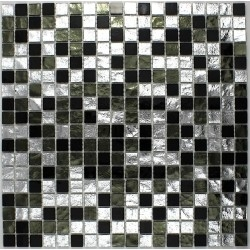 mosaic tile kitchen and bathroom Strass Nero