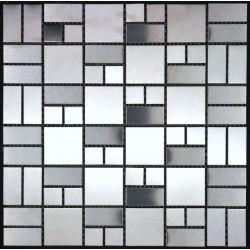 Piastrelle mosaico in inox cucina e bagno mi lof sygma group - Piastrelle cucina mosaico ...
