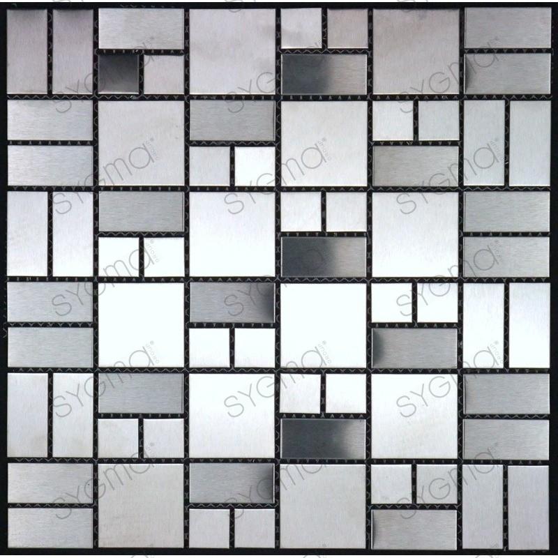 piastrelle mosaico in inox cucina e bagno mi-lof - Sygma Group