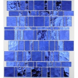 glass mosaic for wall and bathroom mv-pul-ble