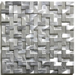 mosaico aluminio de metal cocina Sekret