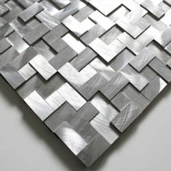 mosaico alluminio spazzolato metallo cucina Sekret