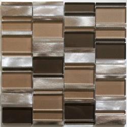 mosaico para baño y ducha de vidrio y aluminio ma-cet-mar