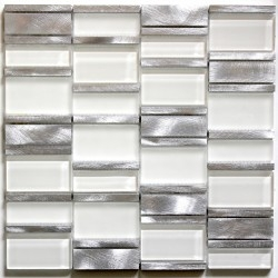 mosaic for bathroom and shower glass and aluminum ma-cet-mar