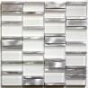 mosaique salle de bain et douche en aluminium et verre Albi Blanc