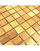 mosaico em madeira - revestimento de paredes em madeira - o tapume de madeira