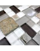 mosaico de vidro e pedra